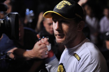 Jun 22, 2012; Atlantic City, NJ, USA;  Gray Maynard before fighting Clay Guida in a lightweight bout during UFC on FX at Revel Resort and Casino. Gray Maynard won the fight by split decision in the fifth round.  Mandatory Credit: Joe Camporeale-US PRESSWI