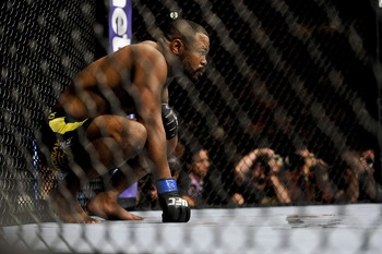 Apr 21, 2012; Atlanta, GA, USA; Rashad Evans before fighting Jon Jones in the main event and light heavyweight title bout during UFC 145 at Philips Arena. Mandatory Credit: Paul Abell-US PRESSWIRE