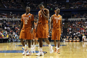 Texas players taking a break from the action