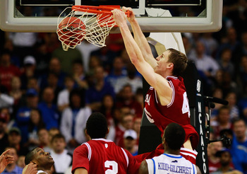 Cody Zeller throwing down a dunk