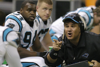 Sal Sunseri during his stint with the Carolina Panthers