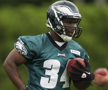 Bryce Brown might be getting the goal-line carries as the Eagles' third running back.