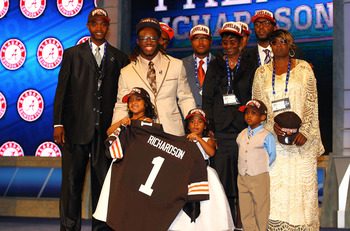 The Browns took Richardson (center, yellow suit) in the first round, and so should fantasy owners