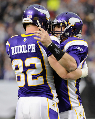 Kyle Rudolph and Christian Ponder.