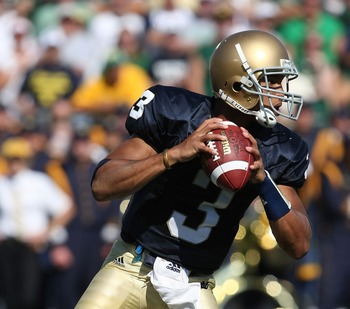 Jones started one game for the Irish.