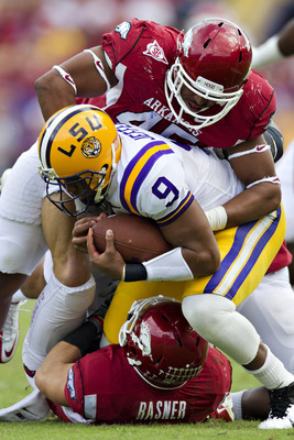Alonzo Highsmith and his Arkansas teammates will look to not repeat last year's results to LSU and Alabama.