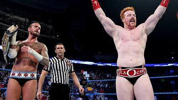 WWE Champion CM Punk and World Heavyweight Champion Sheamus