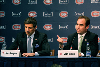 Bergevin (left) and Geoff Molson