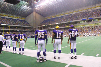 Saints/Vikings Exibition Game in August of 2001 played in San Antonio