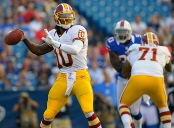 RGIII stood tall in the pocket against the Bills. Washington Post