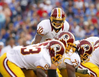 A patchwork O-Line played well in Washington's preseason opener. AP