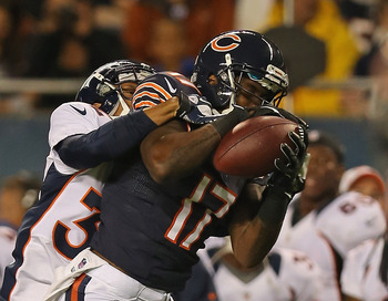 Bears rookie receiver Alshon Jeffery