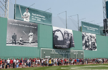 The Green Monster in July of 2002.  Looks a world different, doesn't it?