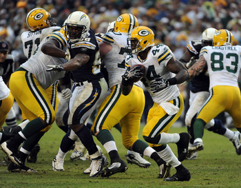 The Packers ground game was routinely stuffed in San Diego.