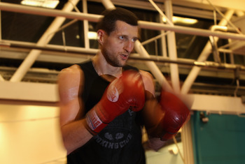 Carl Froch in training for whoever his next fight will come against.