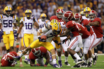 Alabama and LSU would play each year, but never meet in the National Championship.