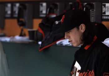 Tim Lincecum channels his inner Charlie Brown.