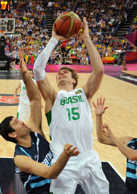 Splitter played for his home country Brazil in the 2012 Olympics.