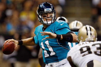 Jaguars quarterback Blaine Gabbert seemed unfazed by the Saints defense