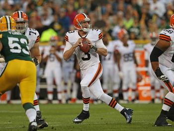 It was a good night for Brandon Weeden and the Browns at Lambeau Field.