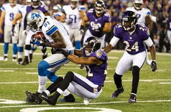 The Ravens struggled to cover Calvin Johnson.