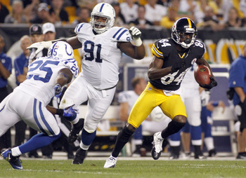Antonio Brown weaves his way through the Indianapolis defense.