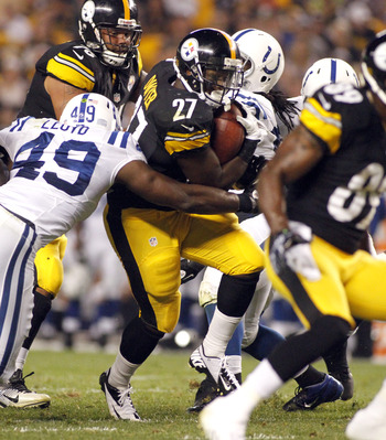 Steelers running back Jonathan Dwyer ran for 43 yards in the win over the Colts.