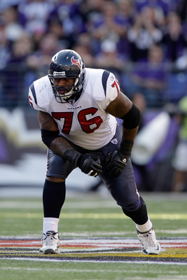 Left tackle Duane Brown is a pivotal part of Houston's offensive line