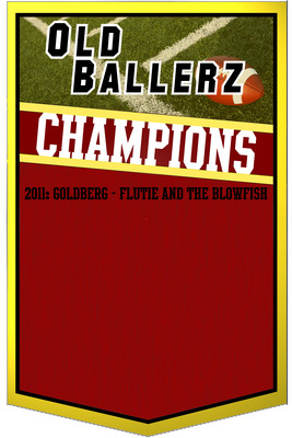 Our brand new champion banner. Yeah, I won.