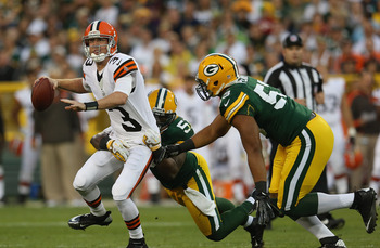 Weeden made a few bad decisions against the Packers.