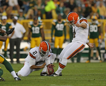 Phil Dawson boomed some long kicks against the Packers.