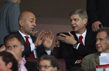 Arsenal Chief Executive Ivan Gazidis and Arsene Wenger