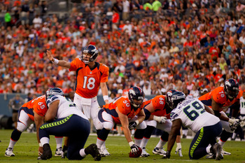 Peyton has yet to throw a touchdown in Denver, and has thrown three interceptions in just two games. Concerned?