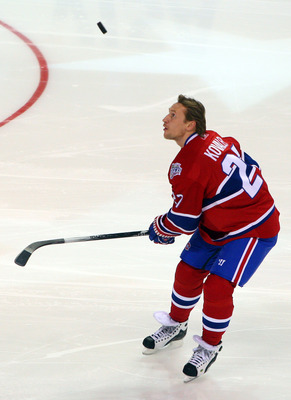 Alex Kovalev displaying his talents at the 2008-2009 All-Star Game.
