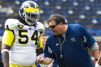 Michigan coach Brady Hoke (right) snagged the seventh-ranked 2012 class, according to Yahoo! Sports.
