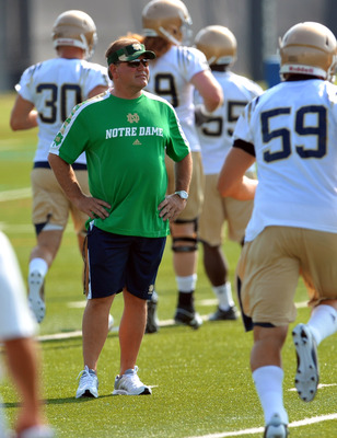 Brian Kelly coaches a Notre Dame team that's constantly overrated.
