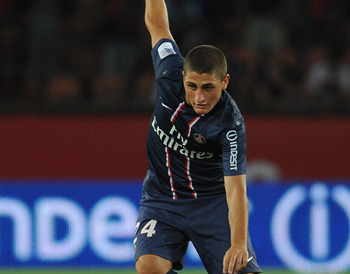 Verratti got his first PSG start