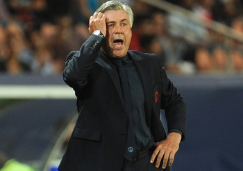 Ancelotti was ready to pull his hair out