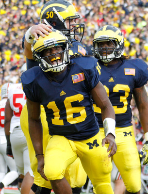 Denard Robinson and the Michigan Wolverines will try to derail the Tide right off the bat Sept. 1.