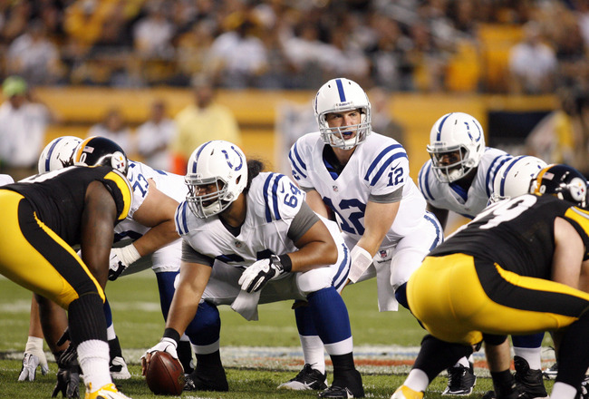 Andrew Luck's handling of adversity was impressive Sunday night. (Charles LeClaire-US PRESSWIRE)