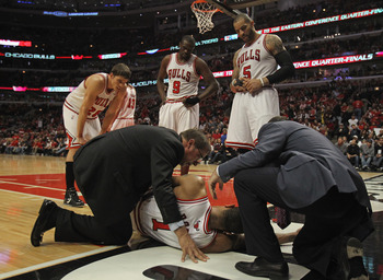 Thus ends the Bulls' 2011-12 season. And 2012-13. And Rose's career.