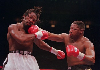 """Merciless"" Ray Mercer connects in a fight against Lennox Lewis that many felt he should've won."