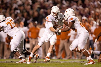 Malcolm Brown will learn to share the pigskin when Texas leads by three or four TDs in the first half