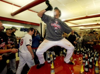 The Twins were dancing on tables to celebrate the Tigers' collapse.