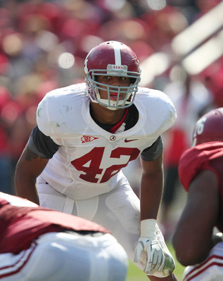 April 14, 2012; Tuscaloosa, AL, USA;  Alabama Crimson Tide   linebacker Adrian Hubbard (42) during the spring game at Bryant Denny Stadium. Mandatory Credit: Marvin Gentry-US PRESSWIRE