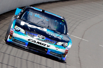 Denny Hamlin finished 11th at Michigan