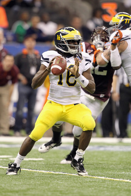 Michigan Wolverines senior quarterback Denard Robinson will have to be as close to perfect as possible if he wants to beat Alabama.