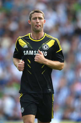 BRIGHTON, ENGLAND - AUGUST 04:  Gary Cahill of Chelsea in action during the pre season friendly match between Brighton & Hove Albion and Chelsea at the Amex Stadium on August 4, 2012 in Brighton, England.  (Photo by Mark Thompson/Getty Images)