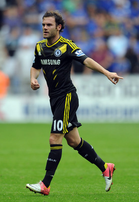 WIGAN, ENGLAND - AUGUST 19:  Juan Mata of Chelsea in action during the Barclays Premier League match between Wigan Athletic and Chelsea at DW Stadium on August 19, 2012 in Wigan, England.  (Photo by Chris Brunskill/Getty Images)