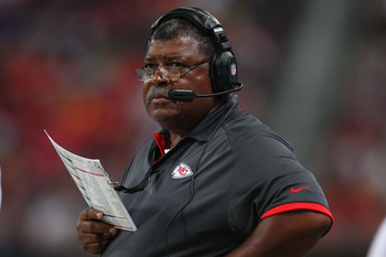Crennel went from defensive coordinator to head coach after a good interim stint.